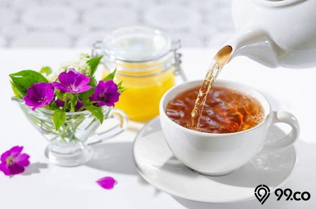 teh dalam gelas
