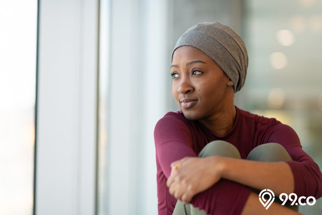 wanita pengidap penyakit kanker