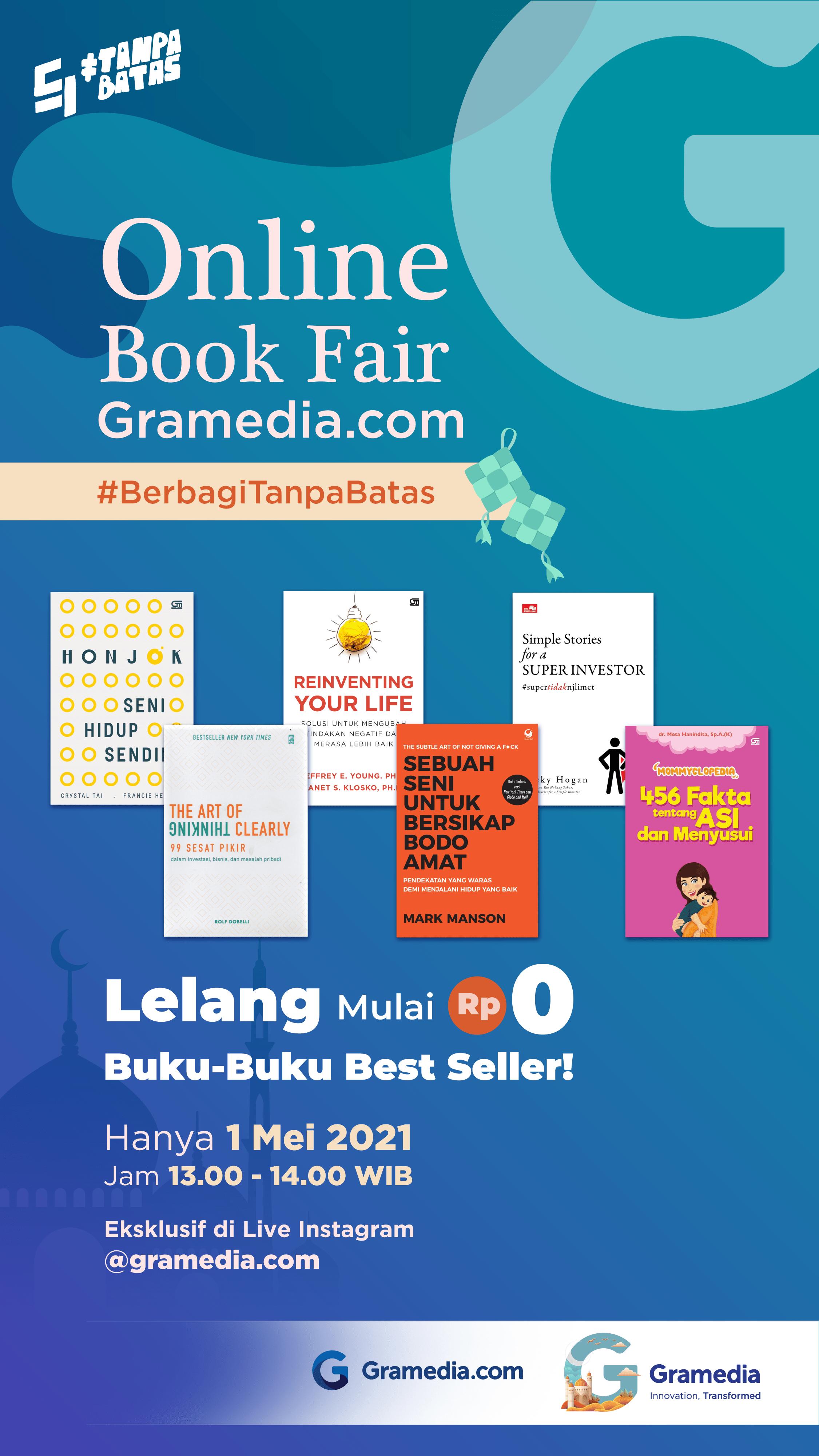 Berkah Ramadan dari Online Book Fair #BerbagiTanpaBatas, Diskon Hingga 90%!